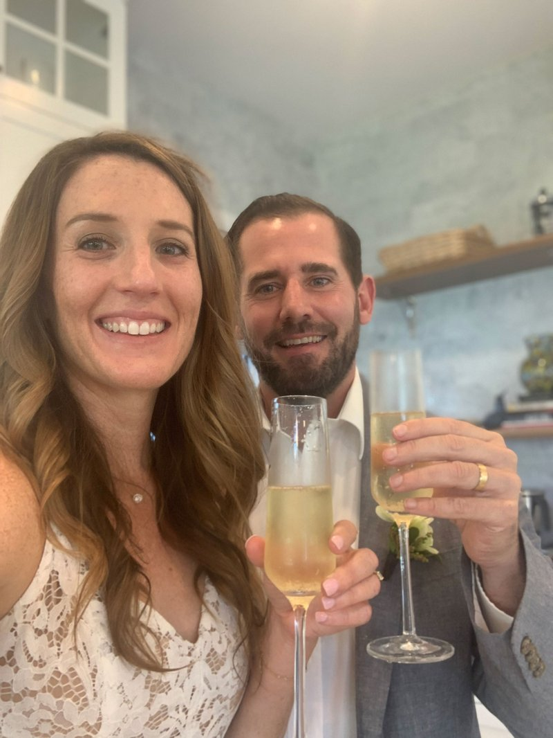 At-Home Wedding Champagne Toast