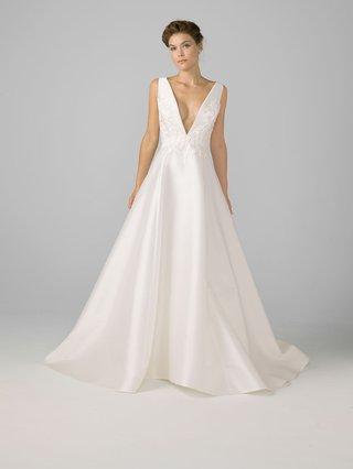 azul-by-liancarlo-2018-bridal-collection-deep-v-neck-wedding-dress-mikado-satin-silk-gown
