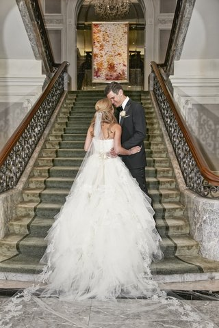 vera-wang-bridal-gown-and-cathedral-length-veil