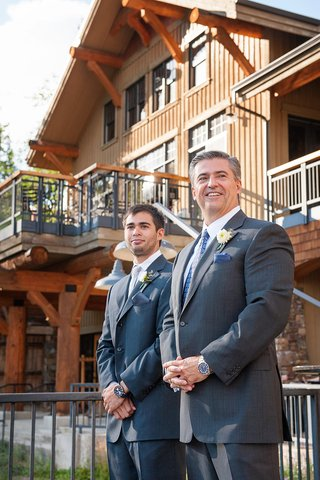 groom-and-best-man-waiting-for-bride-at-outdoor-wedding-ceremony-in-montana