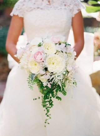 ivory-and-light-pink-wedding-bouquet-with-garden-rose-and-peony-flowers-accented-with-green-verdure