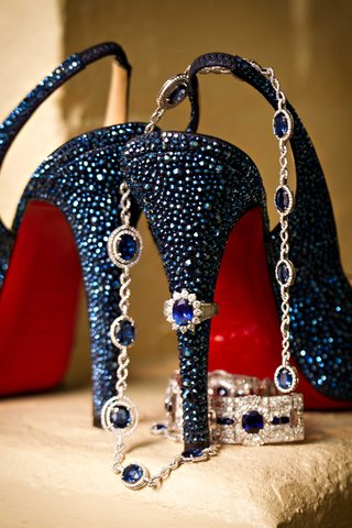 blue-crystal-christian-louboutin-slingback-wedding-heels-with-red-soles-and-blue-sapphire-jewelry