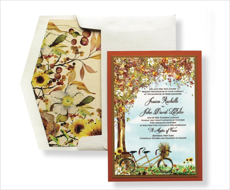 Autumnal Watercolor Invitation by Momental Designs