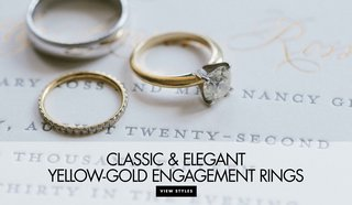 engagement-rings-set-in-yellow-gold-diamond-ring-inspiration-classic-solitaire-boho-chic-rings