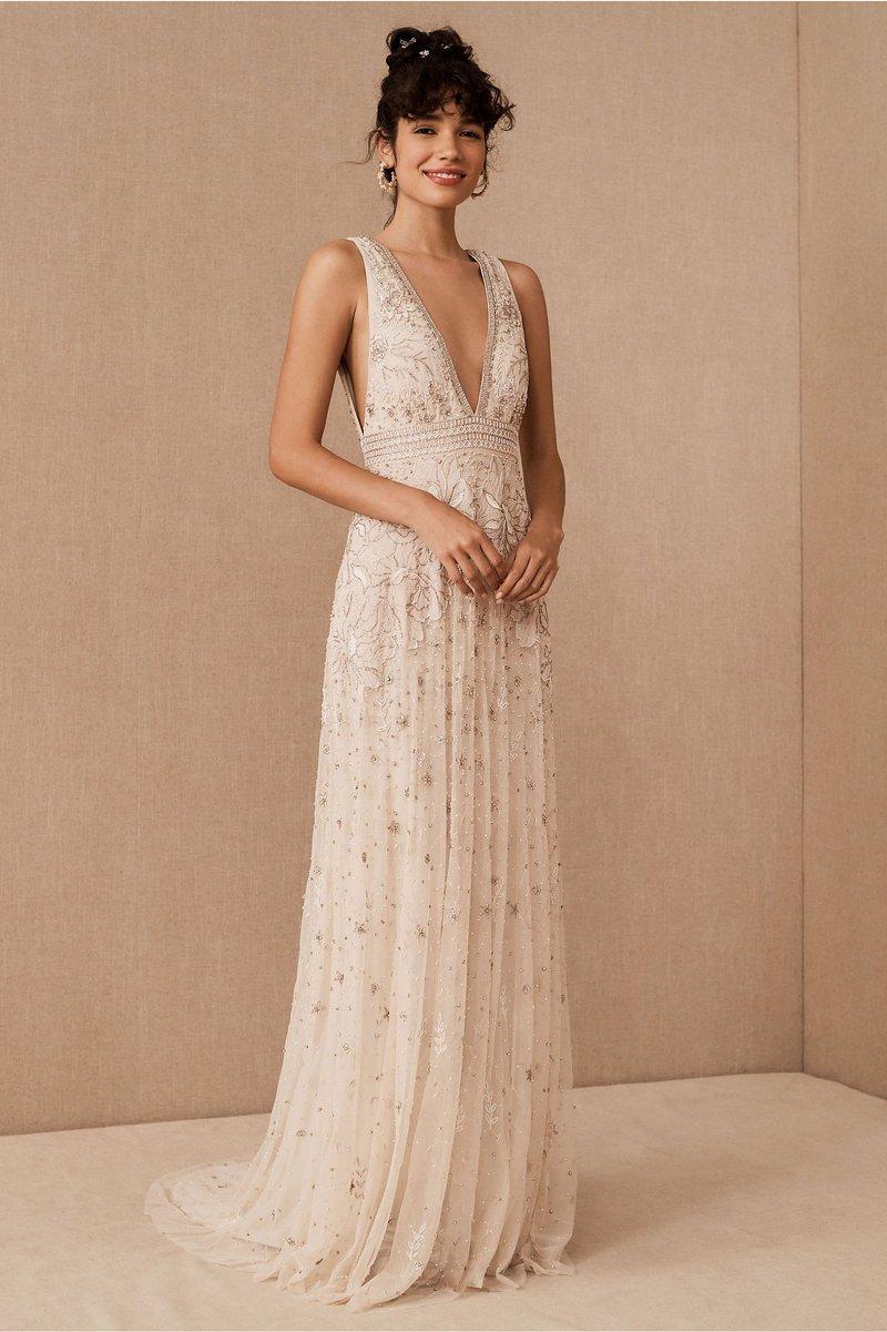 """Laurel"" Vintage-Inspired Wedding Gown"