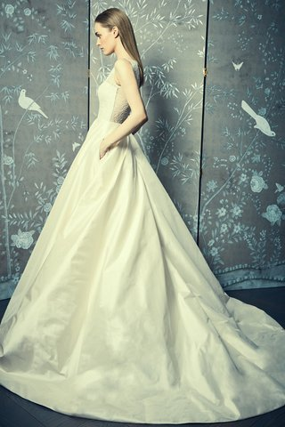 legends-romona-keveza-spring-2018-ball-gown-illusion-boat-neck-gardenia-lace-circle-shantung-buttons