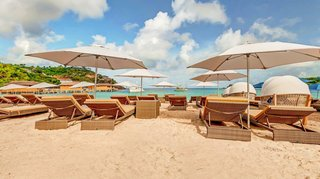 Royalton Antigua Resort & Spa beach with chairs view of ocean