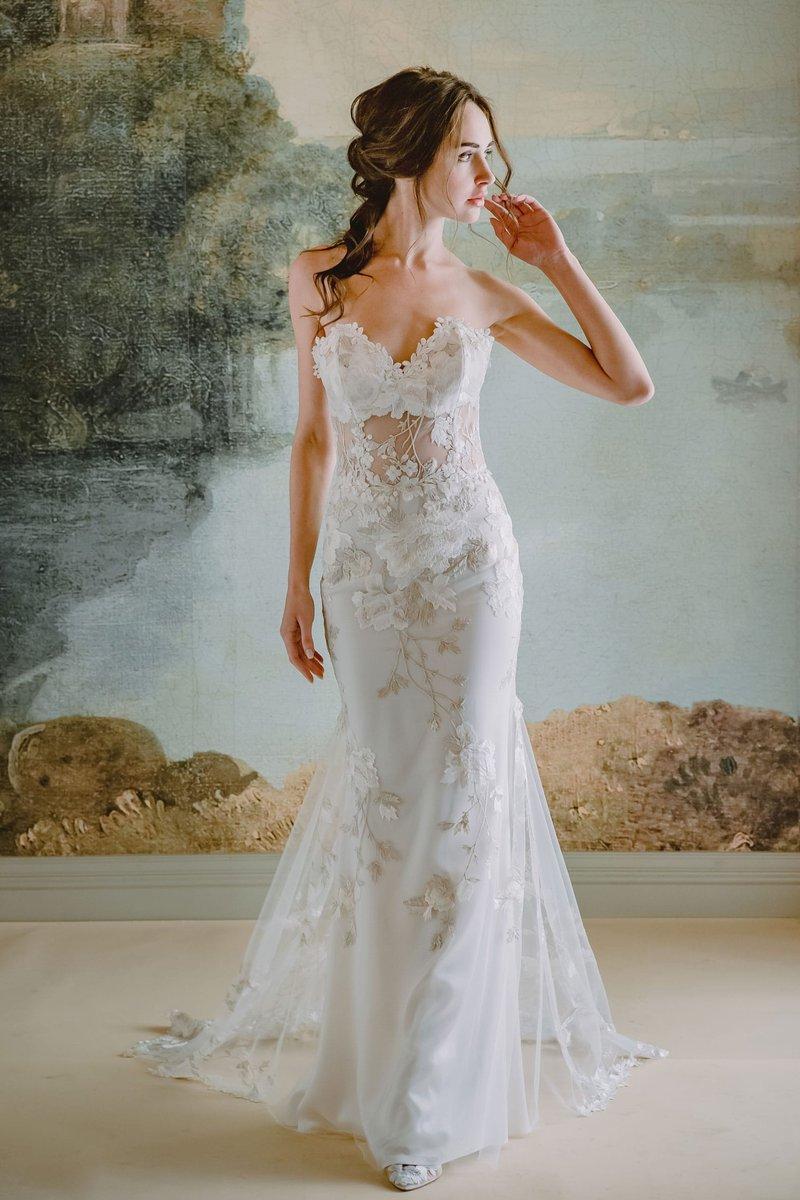 """Odessa"" Bridal Gown by Claire Pettibone"