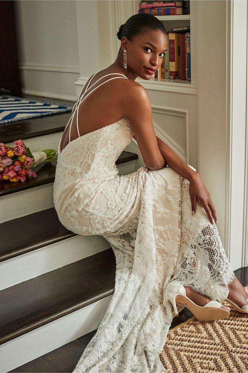 """""""Robyn"""" Strappy Back Wedding Dress"""