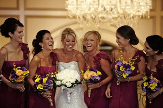 bride-in-anne-barge-bridesmaids-in-amsale-bright-boquets