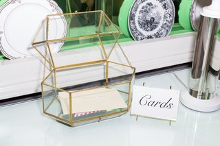 geometric-glass-box-with-gold-lines-for-wedding-card-box-terrarium-inspired-card-box