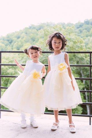 light-yellow-flower-girl-dress-on-young-asian-american-girls