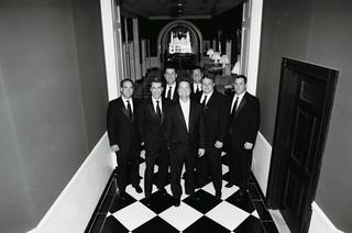 black-and-white-photo-of-wedding-party-men