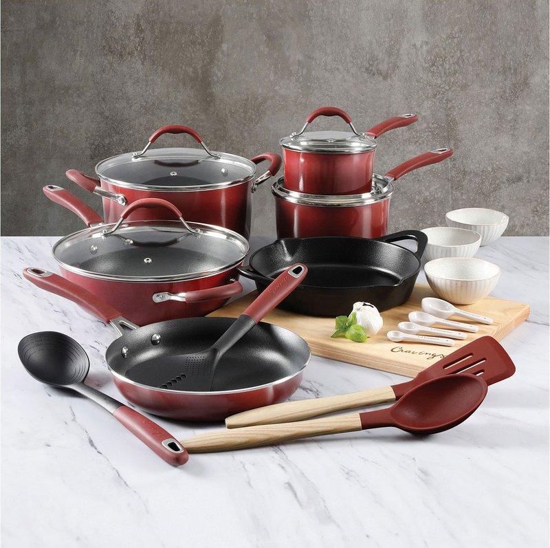 Cravings by Chrissy Teigen 22-Pc. Nonstick Aluminum Combination Cookware Set