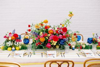 A Charming Fete Colorful Centerpiece wedding reception table