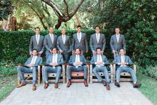 groom-groomsmen-gray-grey-blue-suits-rustic-chic-wedding-california-modern-style