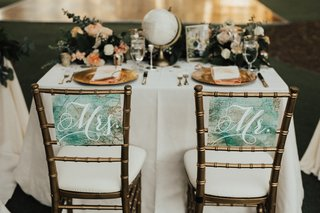 gold-chiavari-chairs-marked-with-mr-and-mrs-signs-made-from-maps