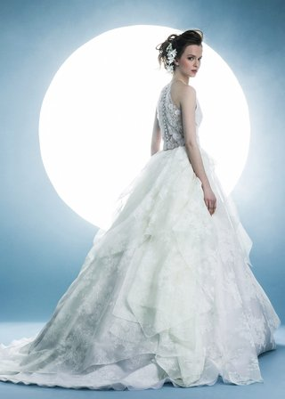 angel-sanchez-spring-2016-collection-ball-gown-dress-with-embroidered-back-and-tiered-skirt