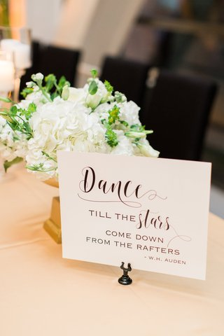 w-h-auden-poetry-quote-at-wedding-small-arrangement-of-white-hydrangeas