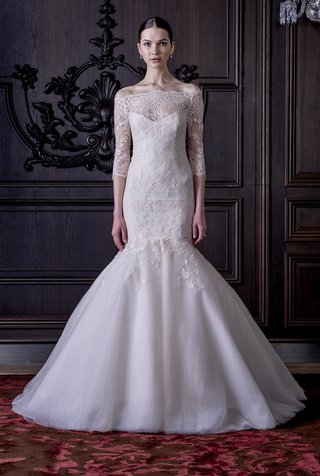 mermaid-wedding-dress-with-lace-sleeves-by-monique-lhuillier