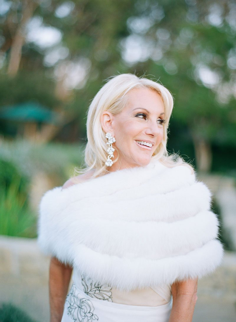 Mother of Bride in Fur Stole