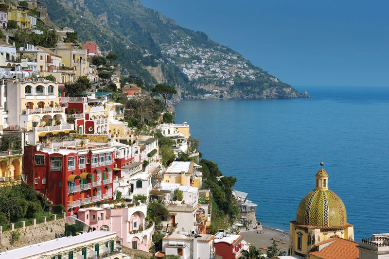 View of Le Sirenuse in Positano, Italy