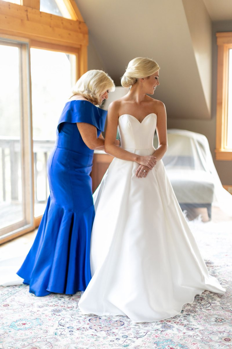 Mother of Bride in Royal Blue Gown