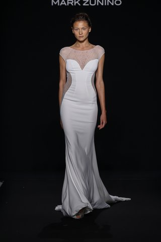 mark-zunino-for-kleinfeld-2016-cap-sleeve-wedding-dress-with-illusion-neckline-and-side-panels