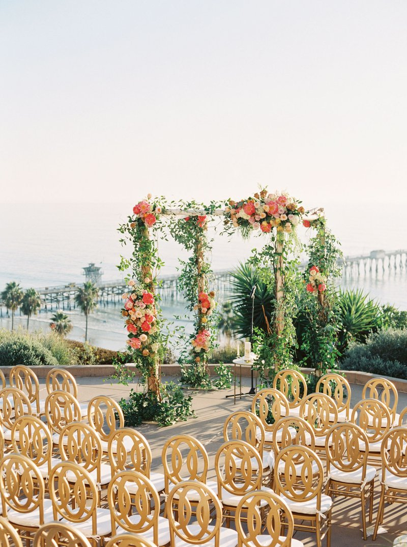 Outdoor Ceremony with View of Pier and Ocean