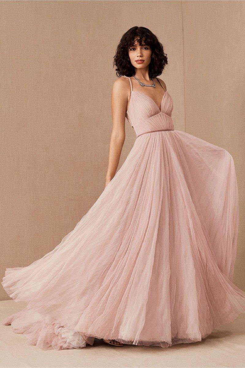 """Viv"" Blush Wedding Dress"