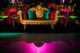 regal-loveseat-next-to-dance-floor-at-indian-wedding