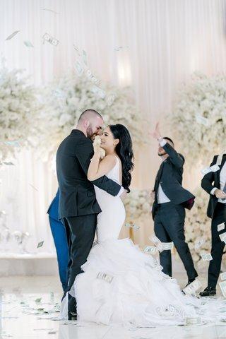armenian-wedding-traditions-money-dance-bride-in-ines-di-santo-wedding-dress