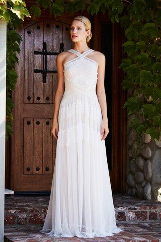 tadashi-shoji-fall-2018-illusion-neck-crepe-gown-with-cotton-lace-detail