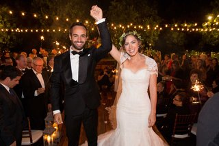 bride-in-ines-di-santo-gown-and-green-flower-crown-with-her-husband