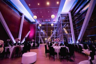 wedding-reception-at-clinton-library-in-arkansas-with-bright-purple-lighting-design-and-fixtures