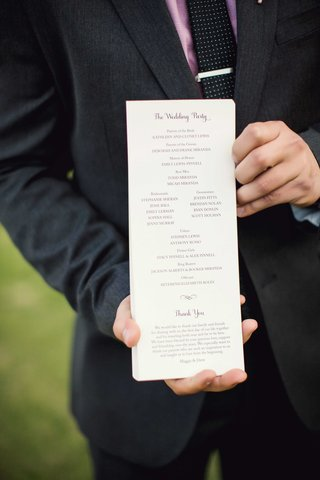 tall-wedding-ceremony-program-with-wedding-party-details-and-thank-you-note-from-bride-and-groom