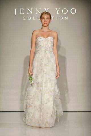 jenny-yoo-bridesmaids-2016-strapless-flower-print-long-bridesmaid-dress