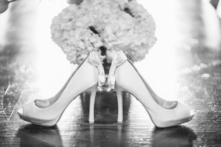 black-and-white-photo-of-badgley-mischka-shoes