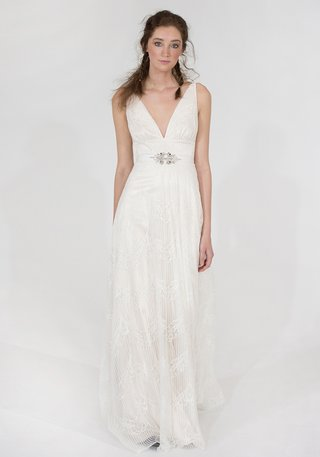 virginia-claire-pettibone-sleeveless-wedding-dress-with-deep-neckline-and-sash-with-sparkle