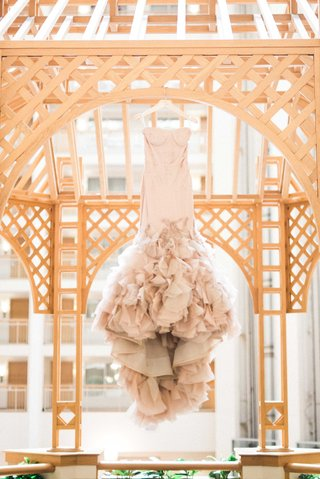 blush-vera-wang-wedding-dress-ruffled-skirt-defined-cups-mermaid-style