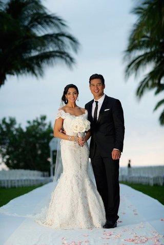 courtney-mazza-mrs-lopez-in-ines-di-santo-lace-wedding-dress