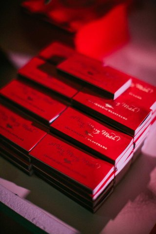 wedding-reception-match-boxes-red-a-very-merry-match-with-wedding-hashtag