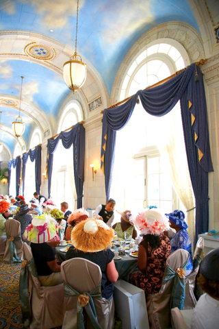 ballroom-with-painted-cloud-ceilings-for-tea-party