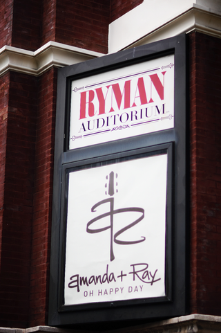 wedding-logo-on-side-of-ryman-auditorium-building