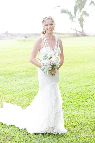 bride-in-essence-of-australia-gown-hawaiian-ceremony-lei