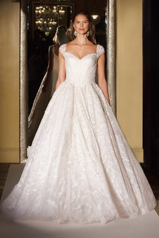 oleg-cassini-davids-bridal-wedding-dress-lace-cap-sleeve-ball-gown-sweetheart-neck-lined-bodice