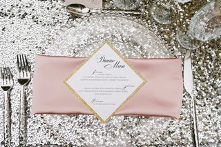 gold-glitter-border-on-square-shaped-diamond-dinner-menu-with-three-courses