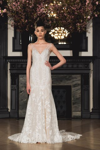 ines-di-santo-spring-2019-bridal-collection-wedding-dress-anna-v-neck-sheath-trumpet-fit-flare-gown
