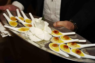tray-passed-banana-creme-brulee-on-white-spoons