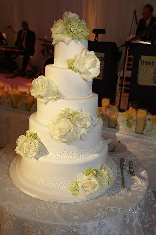 white-classic-wedding-cake-with-fresh-roses